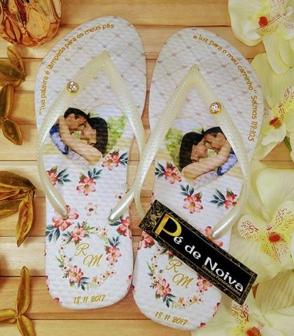Chinelo customizado para Noiva