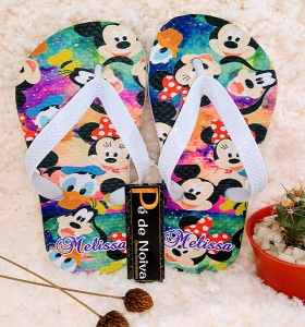 Chinelo Personalizado Infantil Mickey