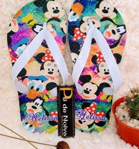Chinelo Personalizado Infantil Mickey